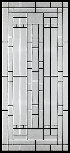 Stained Glass Door Inserts - Waterfall 22x48 Patina Stocked by Randal's Wrought Iron & Stained Glass serving the Greater Toronto Area and surrounding areas.