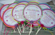 Lollipop Invites for you Candy Shop Theme :-)
