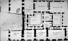 Plan de l'appartement intérieur de Marie Leszczyńska