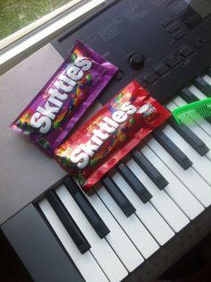 bought skittles!!