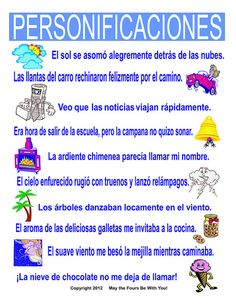 Personification with Figurative Language in Writing in Spanish Spanish Classroom Posters, Bilingual Classroom, Bilingual Education, Classroom Language, Education Logo, Spanish Teaching Resources, Spanish Activities, Spanish Language Learning, Spanish Lessons