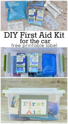 Get ready for scraped knees, bug bites, irritated eyes, and myriad of other things that come with fun summer outdoor adventures with this DIY first aid kit. free printable label #MyPureRelief #cbias [ad]