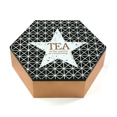 Caja de Té decorado geométrico #caja #te #casa #versa| Tea Box #tea #box #home #versa
