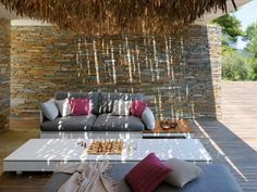 Linearity and comfort are combined in order to give rise to PURE, a collection in which design and functionality find their fullest expression. Outdoor Furniture Design, Art Furniture, Luxury Furniture, Concrete Fireplace, Concrete Wood, Outdoor Sofa, Outdoor Living, Outdoor Decor, Pure Lounge
