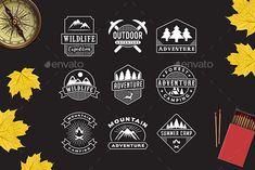 9 Adventure Logo & Badge #expedition #mountain logo Download : https://graphicriver.net/item/9-adventure-logo-badge/21192031?ref=pxcr