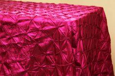 """90""""x156""""+Pinchwheel+Tablecloth+-+Fuchsia"""