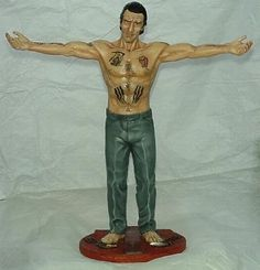 Cape Fear- Max (deNiro). Oils and acrylics. All tattoos hand drawn.