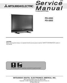 Mitsubishi lt 2220 lt 2240 lt 3020 lt 3040 lt 3050 mitsubishi pd 5065 plasma service manual attention schematics does not included pdf fandeluxe Gallery