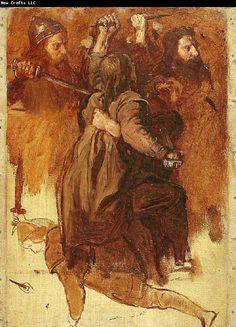 Alvalek | Raphael Museum: figurskisser till bravallaslaget august malmstrom