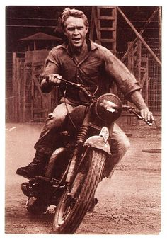 """Steve McQueen...My hubby, daughter & I had the privilege of being extras in the movie """"The Hunter"""" with him!"""
