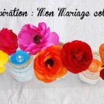 Décoration+mariage+:+un+chemin+de+table+coloré