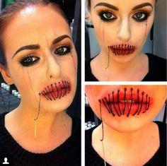 Sewn lips