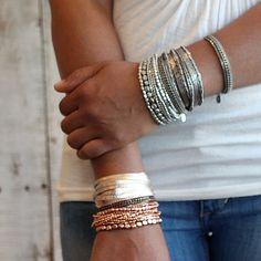 Silber Bead-Armband Silber Armband Bead Armband von PreshStudio