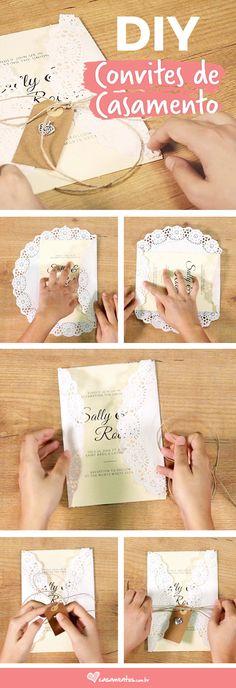 Clique e confira o passo a passo para fazer seus convites de casamento DIY