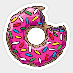 Shop You can't buy happiness but you can buy donuts donut stickers designed by Plushism as well as other donut merchandise at TeePublic. Easy Donut Recipe, Baked Donut Recipes, Sweet Drawings, Pop Art Wallpaper, Homemade Stickers, Sticker Bomb, Tumblr Stickers, Paper Cake, Decoupage