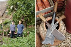 We use our garden as a backdrop to our business that sells antique garden tools, furniture and garden ephemera.