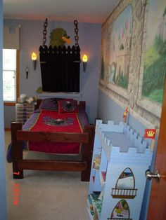 Medieval Knights and Castles, I created this medieval room for my soon. I bought the wall murals because I cant decorative paint but built t...