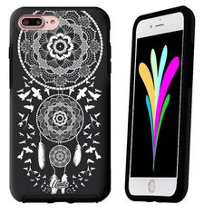 iPhone 7 Case Black Symmetry Dream Catcher Birds by Unnito