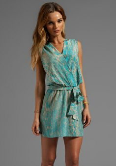 b0341c29 Karina Grimaldi Azalea Print Mini Dress in Turquoise Snake End of the Year  Luncheon