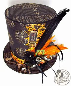 This amazing Happy Haunting Top Hat is by @Jim Hankins, the Gentleman Crafter! What a fun and easy craft for Halloween! It even has a mini inside!! #graphic45 #DIY