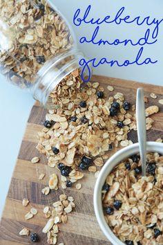 Blueberry Almond Granola (Vegan + Gluten Free) - Modern Little Victories