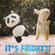Happy Friday everyone! As you can see Panda Pear and Kangarootbeer are excited for the long weekend.