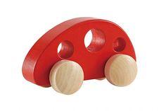 Hape Wooden Toys online - UK Stockist for Hape Toys Mini Vans, Wooden Toys For Toddlers, Toddler Toys, Little Bus, Hape Toys, Monospace, Red Vans, Wooden Car, Pull Toy