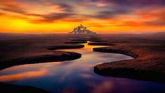 Mont Saint Michel, Normandy, Saints, Earth, France, Places, Water, Recherche Google, Outdoor