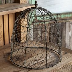 Wire Cloche | Chicken Wire Cloches | Farmhouse Cloche