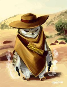 owl bandit :-) by Briana