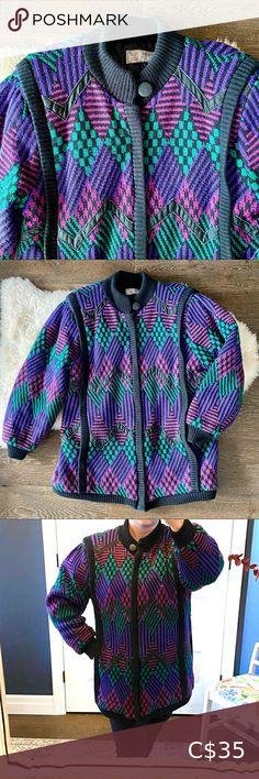 I just added this listing on Poshmark: Vintage 80's diamond pattern knit jacket. #shopmycloset #poshmark #fashion #shopping #style #forsale #Vintage #Jackets & Blazers