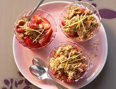 Crumbles de fraises au miel  Rien de plus facile à faire qu'un crumble, alors on se lance avec cette recette toute rose.  Voir la recette du crumble de fraises au miel