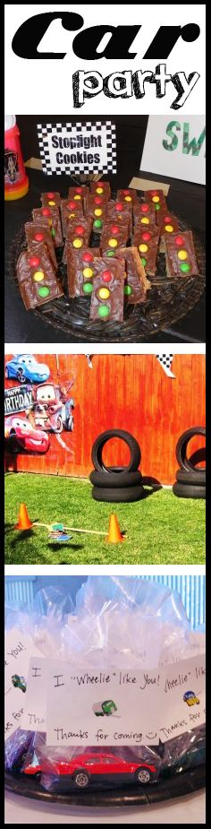 Car-Themed Party Ideas- This would be something for Rachel to remember for a future birthday party for baby Jack!