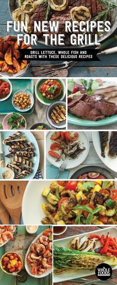 Fun New Recipes for the Grill! Grilled Shrimp with Mustard Seed Sauce // Grilled Vegetable Panzanella // Smoky Grilled Chickpeas with Eggplant and Tomatoes // Lemon-Marinated London Broil // Grilled Beef Short Ribs // Grilled Mackerel with Tomato Salad // Grilled Miso Swordfish Steaks // Grilled Teriyaki and Romaine Salad