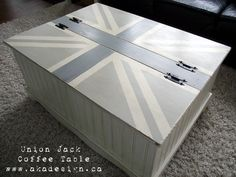 This is my inspiration for the huge Stainless Steel trunk I found.  A Union Jack!