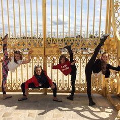 Maddie Ziegler, Mackenzie Ziegler, Kendall Vertes and Nia Frazier Europe Tour #Paris