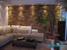 Brick wallpaper bedroom accent walls 36 ideas for 2019 House Design, Wallpaper Bedroom, Stone Walls Interior, Stone Accent Walls, Wallpaper Living Room, Wallpaper House Design, Brick Wallpaper Bedroom, Wall Design, Living Design