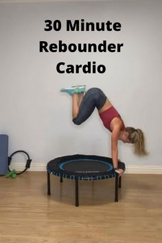 Rebounder Trampoline, Trampoline Workout, Fitness Goals, Fitness Tips, Fitness Motivation, Cardio Routine, Low Impact Workout, High Intensity Interval Training, Fitness Exercises