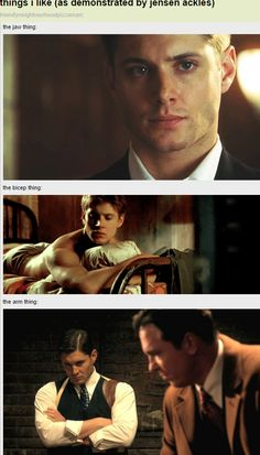 [GIFSET] Things I like (as demonstrated by Jensen Ackles)