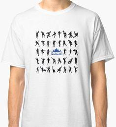 Fortnite Emote Shirt/Sticker Sheet Classic T-Shirt Custom Made, Classic T Shirts, Sticker, Design Inspiration, Mens Tops, Gifts, Fashion, Moda, Presents