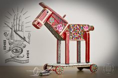 *NEWS!!! - Horse* by Robert Romanowicz, via Behance