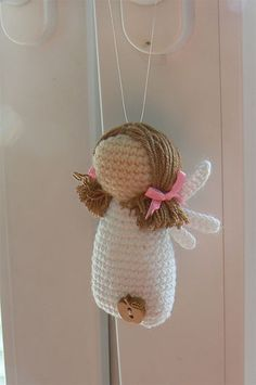 Little Angel, crochet pattern available via Ravelry: http://www.ravelry.com/patterns/library/little-angel-lavender