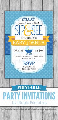 Sip and See Invitations Boy Inspirational 66 Best Printable Baby Shower Invitations Images On Sip And See Invitations, Printable Baby Shower Invitations, Baby Shower Printables, Party Invitations, Invite, Shower Party, Baby Shower Parties, Baby Shower Themes, Baby Boy Shower