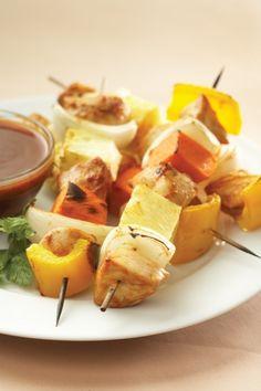 Mmmm! Tropical Chicken Kabobs! #GoTropical