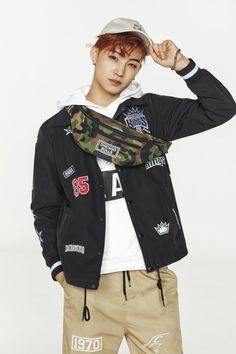 "JYP Artists GOT7 and TWICE Model for ""NBA"" Clothing Brand 