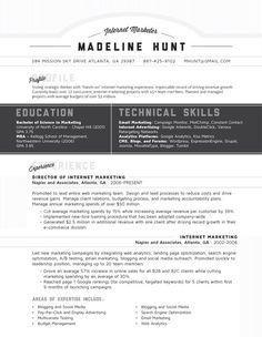 Resume Template | Market Square Grey – Loft Resumes