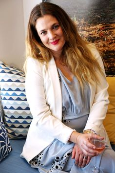 """Drew Barrymore Has Something Important to Tell You About Life, Love, and Rosé """"Still cute :-)"""" """"PS :-) if u read the article, the last sentence... I wore an ankle bracelet last week. I swear"""""""