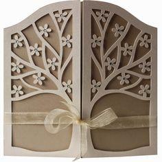 DIGITAL ART by Daniela Angelova: 5x5 spring tree gate fold card TUTORIAL