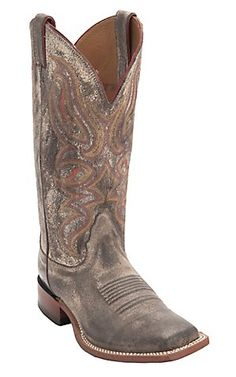 Nocona® Women's Wildside Distressed Brown Double Welt Square Toe Western Boots | Cavender's
