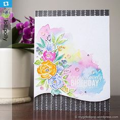 Instagram media from dawnwplus9 by @lollipolly! Pretty Peonies stamp by WPlus 9.